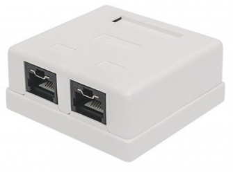 Intellinet Caja Cat5e Gigabit Ethernet, 2x RJ-45, Blanco