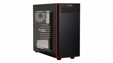 Gabinete In Win 703 con Ventana, Midi-Tower, ATX/Micro-ATX, USB 3.0/2.0, sin Fuente, Negro/Rojo