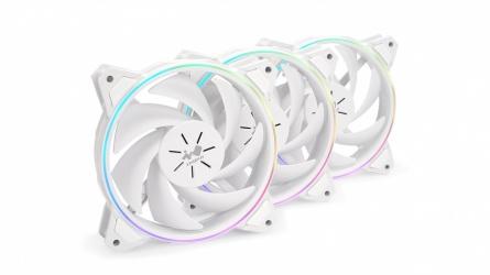 Ventilador In Win Sirius Pure ASP120 LED RGB, 120mm, 500 - 1800RPM, Blanco - 3 Piezas