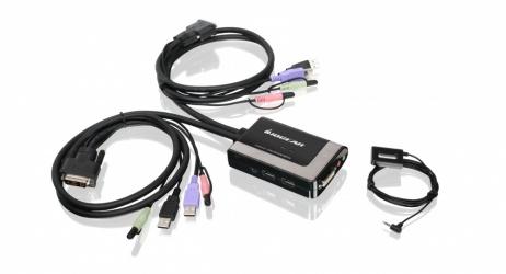 Iogear Switch KVM GCS932UB, 2 Puertos DVI-D/USB/3.5mm