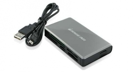 Iogear Lector de Memoria GFR281W6, MicroSD/SD, USB, Gris