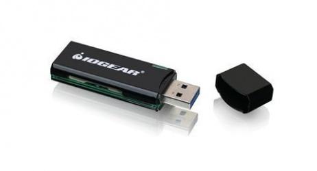 Iogear Lector de Memoria GFR304SD, microSD/MMC/SD, USB 3.0, Negro