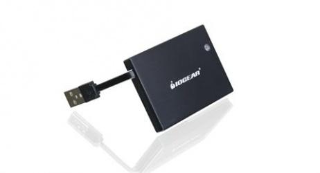 Iogear Lector de Tarjeta Inteligente GSR203, USB 2.0