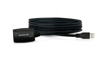 Iogear Cable USB Macho - USB Hembra, 5 Metros, Negro