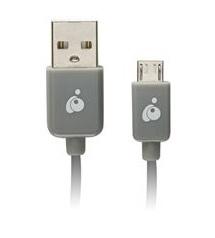 Iogear Cable USB Macho - Micro USB Macho. 2 Metros, Gris