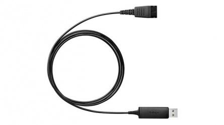 Jabra Cable USB Link 230, para Jabra QD, Negro