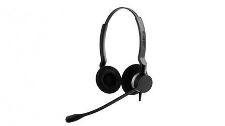 Jabra Headset BIZ 2300 UC Duo, Alámbrico, USB, Negro