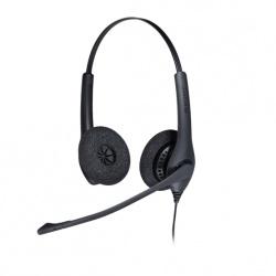Jabra Audífonos con Micrófono Biz 1500 QD Duo, Alámbrico, Negro + 1 Cord QD Conector de 3.5 mm
