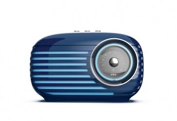 JAM Altavoz Portátil Vintage, Bluetooth, Inalámbrico/Alámbrico, Azul
