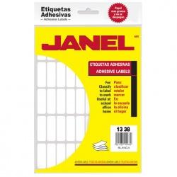 Janel Paquete de 900 Etiquetas Blancas de 13x38mm