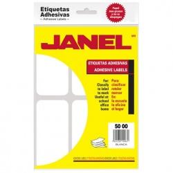 Janel Paquete de 84 Etiquetas Blancas de 50x100mm