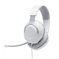 JBL Audífonos Gamer con Micrófono Quantum 100 para PC/Nintendo Switch/Xbox One/PS4, Alámbrico, 3.5mm, Blanco