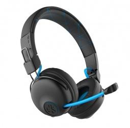 JLAB Audio Audífonos Gamer Play Gaming para PS/Xbox/Nintendo/PC/Mac, Alámbrico/Inalámbrico, 3.5mm, Negro/Azul