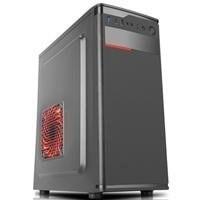 Gabinete K-MEX CX-01FB, ATX, USB 2.0/3.0, con Fuente de 450W, Negro