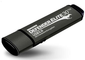 Memoria USB Kanguru Defender Elite30, 128GB, USB 3.2, Negro