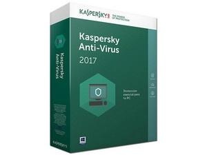 Kaspersky Lab Anti-Virus 2017, 3 Usuarios, 1 Año, Windows