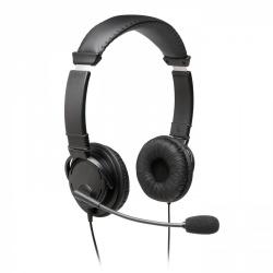 Kensington Audífonos con Micrófono K97603WW, Alámbrico, 2 Metros, Negro