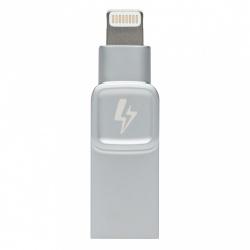 Memoria USB Kingston Bolt Duo, 128GB, USB 3.0/Lightning, Plata