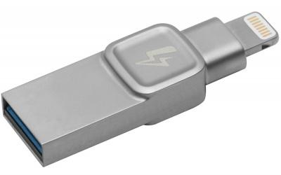 Memoria USB Kingston Bolt Duo, 32GB, USB 3.0/Lightning, Plata