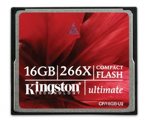 Memoria Flash Kingston Ultimate, 16GB CompactFlash 266x, con MediaRECOVER