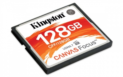 Memoria Flash Kingston Canvas Focus, 128GB CompactFlash