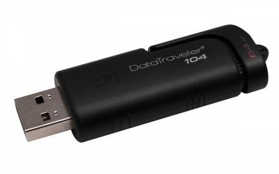 Memoria USB Kingston DataTraveler 104, 64GB, USB 2.0, Negro