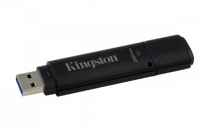Memoria USB Kingston DataTraveler 4000G2, 32GB, USB 3.0, Negro