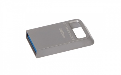 Memoria USB Kingston DataTraveler Micro 3.1, 32GB, USB 3.1, Lectura 100MB/s, Escritura 15MB/s, Metálico