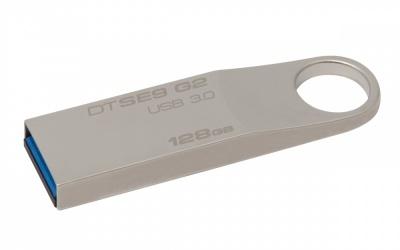 Memoria USB Kingston DataTraveler SE9 G2, 128GB, USB 3.0, Metálico