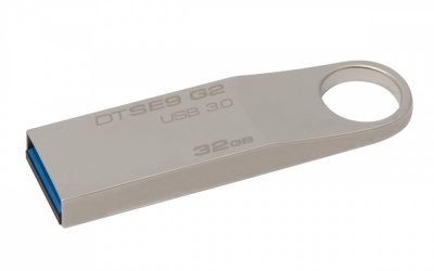 Memoria USB Kingston DataTraveler SE9 G2, 32GB, USB 3.0, Metálico
