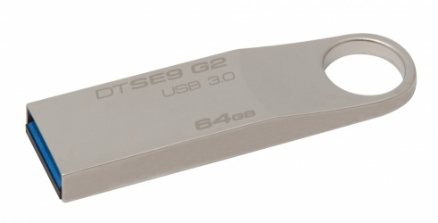 Memoria USB Kingston DataTraveler SE9 G2, 64GB, USB 3.0, Metálico