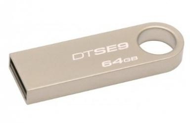 Memoria USB Kingston DataTraveler SE9, 64GB, USB 2.0, Beige