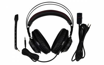 HyperX Audífonos Gamer Cloud Revolver Pro Gaming para Xbox One y PS4, Alámbrico, 1 Metro + 2 Metros de Extensión, 3.5mm, Negro/Rojo