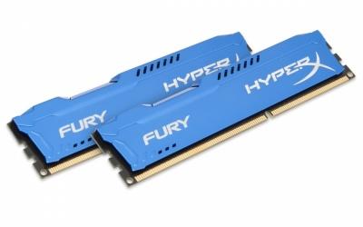 Kit Memoria RAM Kingston HyperX FURY Blue DDR3, 1600MHz, 16GB (2 x 8GB), Non-ECC, CL10