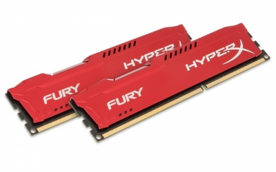 Kit Memoria RAM HyperX FURY Red DDR3, 1600MHz, 16GB (2 x 8GB), Non-ECC, CL10
