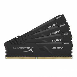Kit Memoria RAM Kingstone HyperX FURY BLACK DDR4, 3000MHz, 128GB (4 x 32GB), CL16, XMP