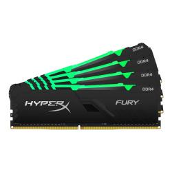 Kit Memoria RAM Kingston HyperX FURY Black RGB DDR4, 3200MHz, 32GB (4 x 8GB), Non-ECC, CL16, XMP