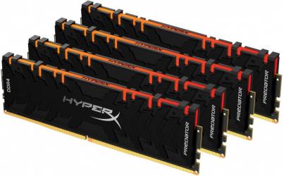 Kit Memoria RAM Kingston HyperX Predator RGB DDR4, 3600MHz, 32GB (4 x 8GB), Non-ECC, CL17, XMP