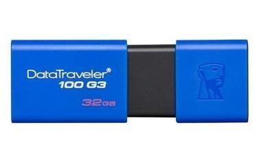Memoria USB Kingston DataTraveler 100 G3, 32GB, USB 3.1 A, Azul