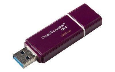 Memoria USB Kingston DataTraveler G4, 32GB, USB 3.0, Púrpura