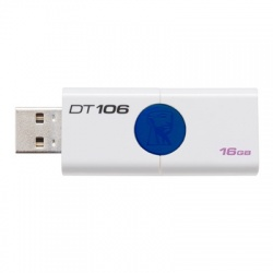 Memoria USB Kingston DataTraveler 106, 16GB, USB 2.0, Azul