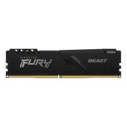 Memoria RAM Kingston FURY Beast Black DDR4, 2666MHz, 4GB, Non-ECC, CL16, XMP ― ¡Compra y participa para ganar 1 Kit Oficial Kingston FURY!