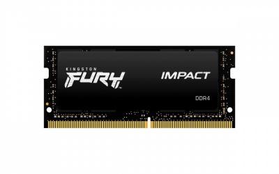 Memoria RAM Kingston FURY Impact DDR4, 2666MHz, 8GB, Non-ECC, CL15, SO-DIMM, XMP ― ¡Compra y participa para ganar Memoria RAM Kingston FURY o Kit de promocionales Kingston FURY!