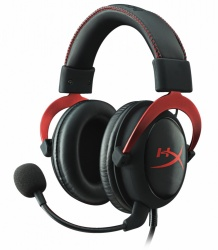 Kingston Audífonos Gamer HyperX Cloud II Red 7.1, Alámbrico, 1 Metro + 2 Metros de Extensión, 3.5mm, Negro/Rojo