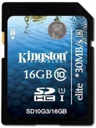 Memoria Flash Kingston, 16GB SDHC, Clase 10, UHS-I Elite