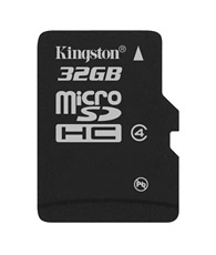Memoria Flash Kingston, 32GB microSDHC Clase 4
