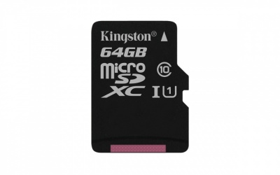 Memoria Flash Kingston Canvas Select, 64GB MicroSD UHS-I Clase 10