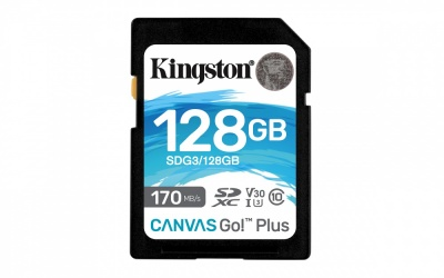Memoria Flash Kingston Canvas Go! Plus, 128GB SDXC UHS-I Clase 10