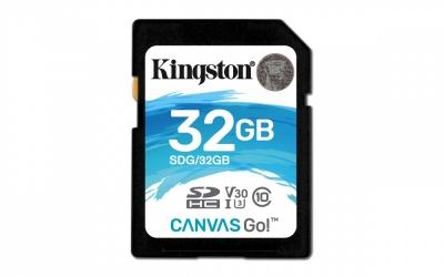 Memoria Flash Kingston Canvas Go!, 32GB SDHC UHS-I Clase 10