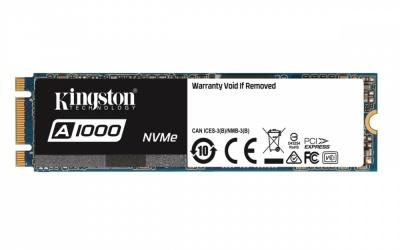 SSD Kingston A1000 NVMe, 480GB, PCI Express, M.2